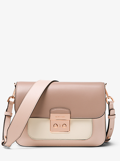 b6a800990907 Sloan Editor Color-Block Leather Shoulder Bag | Michael Kors