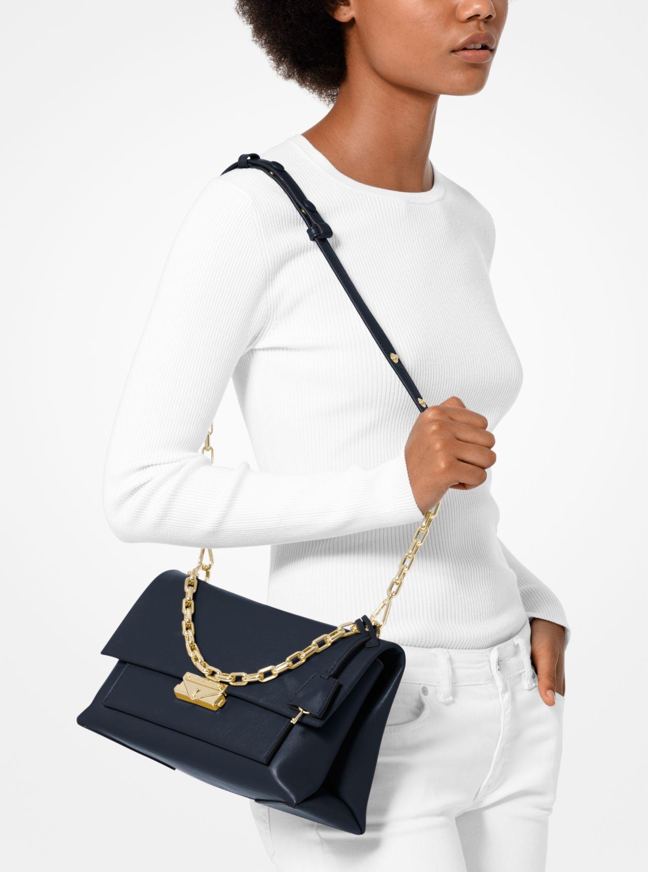 Cece Large Leather Shoulder Bag