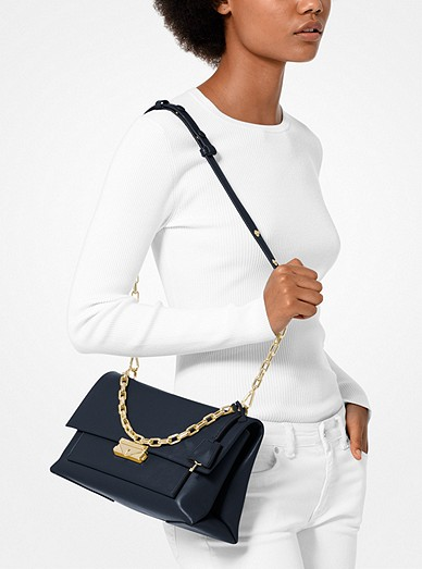 6846ee89aa2c Cece Large Leather Shoulder Bag. MICHAEL Michael Kors