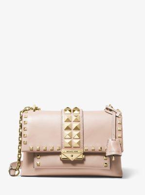 Cece Medium Studded Leather Shoulder Bag by Michael Kors