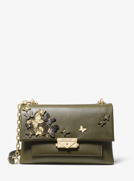 Cece Medium Butterfly Embellished Leather Shoulder Bag by Michael Michael Kors