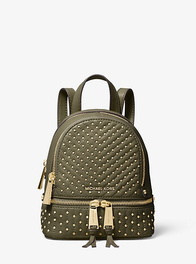 20b9a48be75a Rhea Mini Studded Leather Backpack | Michael Kors