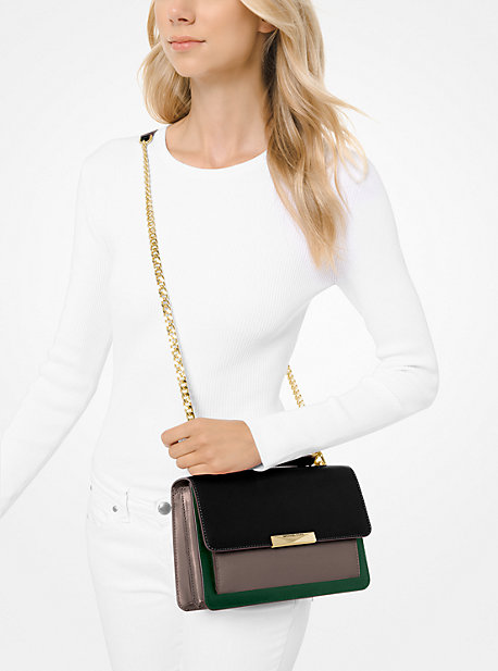 Jade Large Tri-Color Leather Crossbody