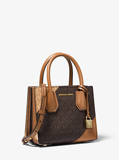 1408433af71612 Mercer Two-Tone Logo and Leather Accordion Crossbody Bag. michael michael  kors ...