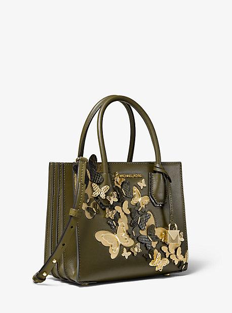 355cf7bf4fda17 Mercer Medium Butterfly Embellished Leather Accordion Crossbody Bag |  Michael Kors