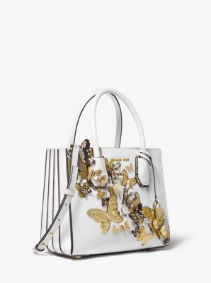 7a65680e1944 Mercer Medium Butterfly Embellished Leather Accordion Crossbody Bag | Michael  Kors