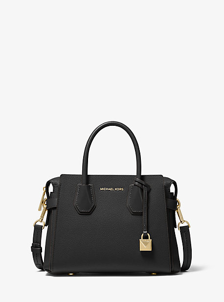 Mercer Small Pebbled Leather Belted Satchel