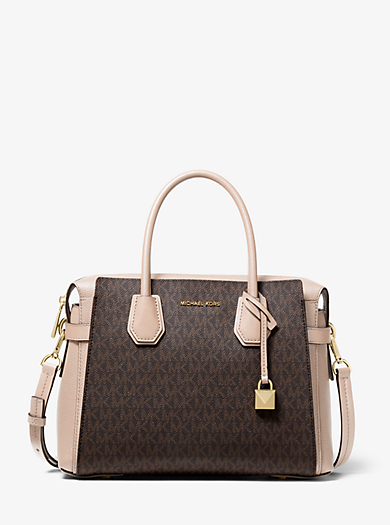 caa0e75c80cecf Mercer Medium Logo Belted Satchel · michael michael kors ...