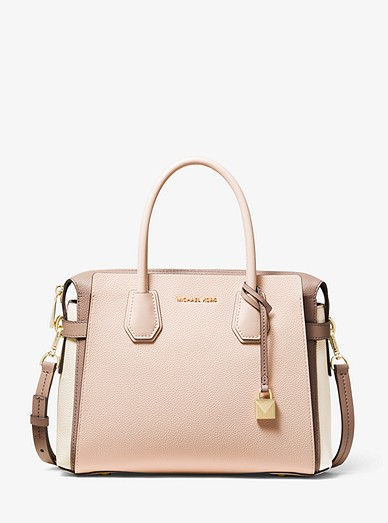 pretty nice e78f2 70b78 Mercer Medium Tri-Color Pebbled Leather Belted Satchel