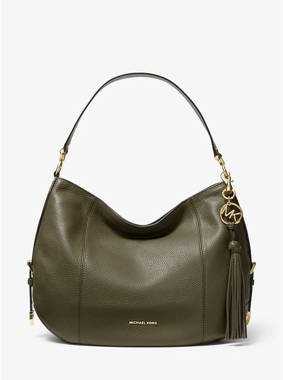 Brooke Large Pebbled Leather Shoulder Bag by Michael Michael Kors