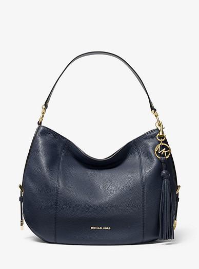 bcee48815f33 Brooke Large Pebbled Leather Shoulder Bag   Michael Kors