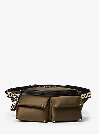 Olivia Large Studded Satin Belt Bag 67dd01a69ea