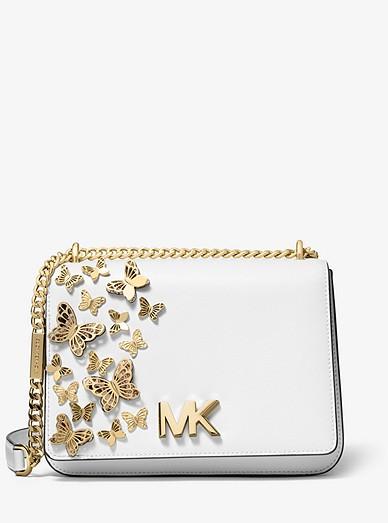6b4e3f695c6842 Mott Large Butterfly Embellished Leather Crossbody Bag | Michael Kors