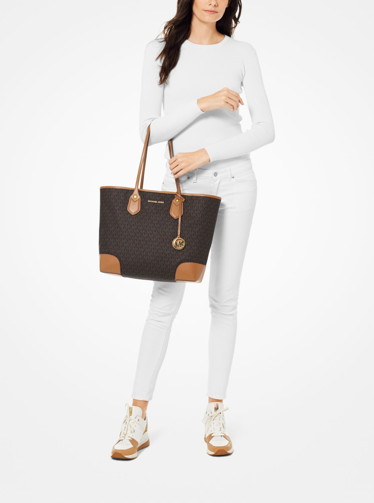 c2682aceee ... Eva Large Logo Tote Bag. MICHAEL Michael Kors