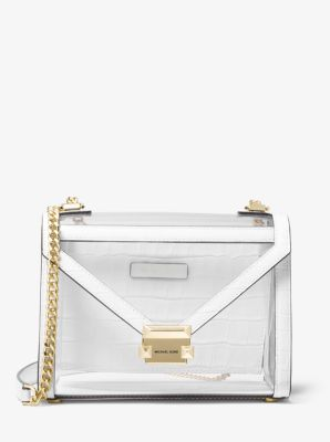 6198d6a59 Whitney Large Clear and Leather Convertible Shoulder Bag | Michael ...