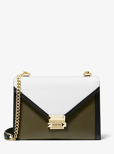 6bf6df9864c7 Whitney Large Tri-color Leather Convertible Shoulder Bag | Michael ...