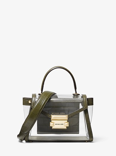 7cd2a55f87d6 Whitney Mini Clear And Leather Satchel