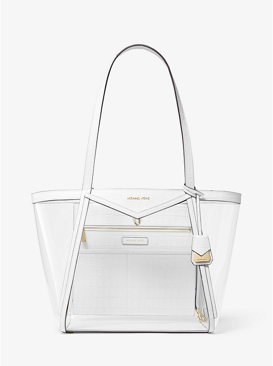 c3379afa0 Whitney Large Clear And Leather Tote Bag | Michael Kors