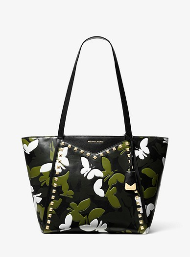 db070b1ed2d90a Whitney Large Butterfly Camo Leather Tote Bag | Michael Kors