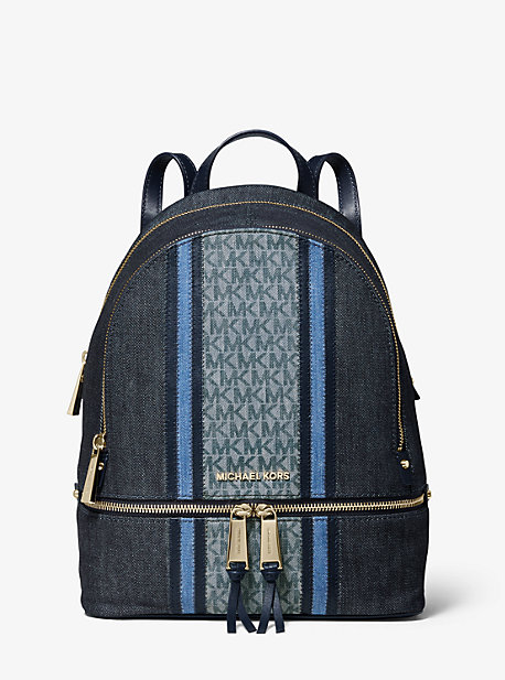 Rhea Medium Denim Logo Backpack