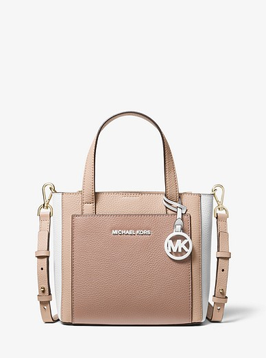 2ccdc253061c Gemma Small Tri-color Pebbled Leather Crossbody | Michael Kors