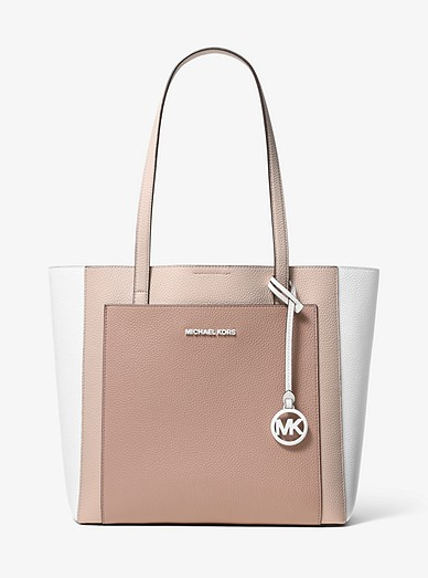 e3d963260e50 Gemma Large Tri-color Pebbled Leather Tote | Michael Kors