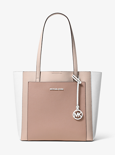 9eacdc279cf4 Gemma Large Tri-Color Pebbled Leather Tote · michael michael kors ...