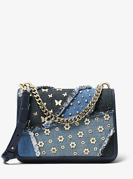 ee7cc4fdc3de Mott Large Embellished Patchwork Crossbody Bag · michael michael kors ...