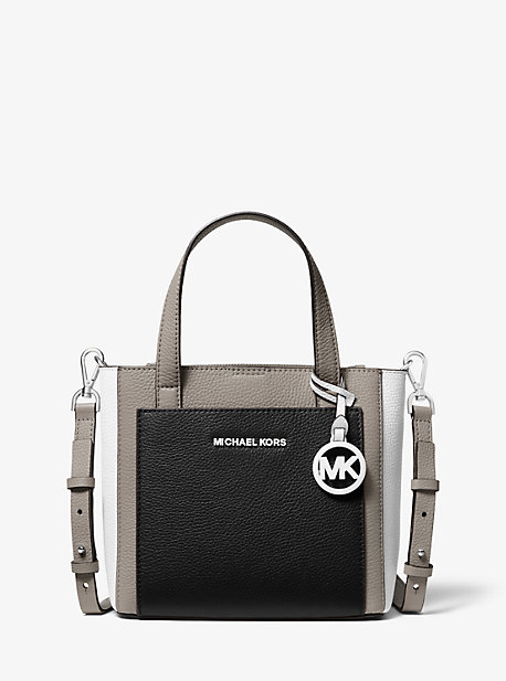 cdcd6d83 Gemma Small Tri-Color Pebbled Leather Crossbody. MICHAEL Michael Kors ...