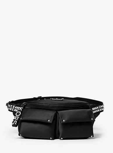 98313471677 Olivia Large Studded Satin Belt Bag | Michael Kors