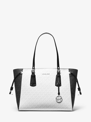 3ef4e256e67670 Voyager Medium Two-tone Logo Tote Bag | Michael Kors