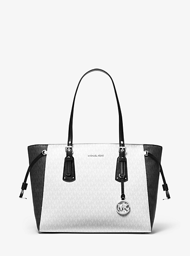 dd1154bb0869 Voyager Medium Two-Tone Logo Tote Bag. michael michael kors ...