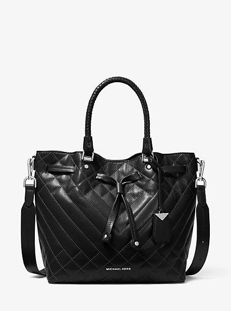Blakely Medium Quilted Leather Bucket Bag