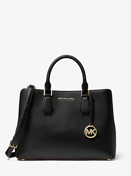 Camille Large Pebbled Leather Satchel