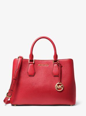 Grand sac porté main Camille en cuir grainé   Michael Kors