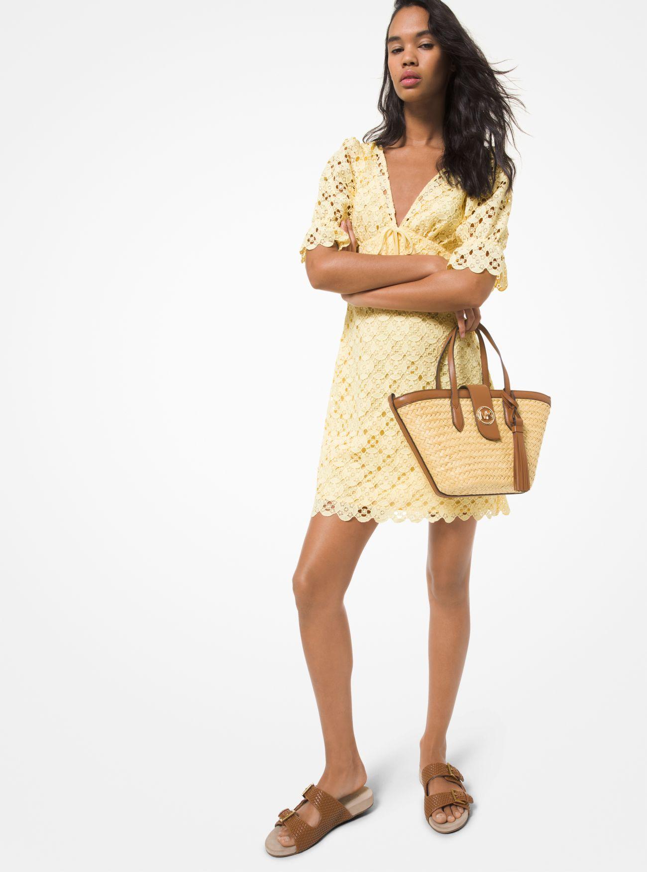 Lace Dress, Malibu Tote, Merritt Slide Sandal | Michael Kors