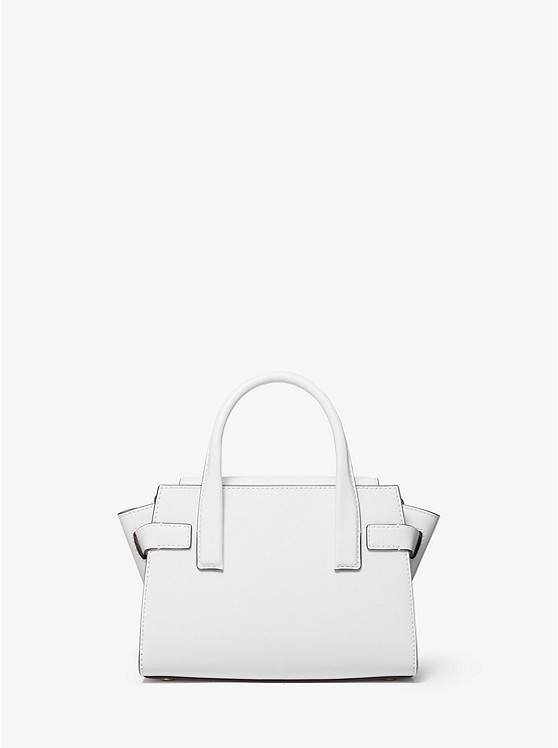 Carmen Extra-Small Saffiano Leather Belted Satchel