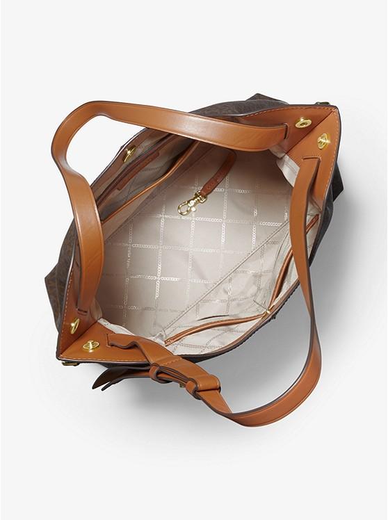 Downtown Astor Large Logo Shoulder Bag BRN/ACORN
