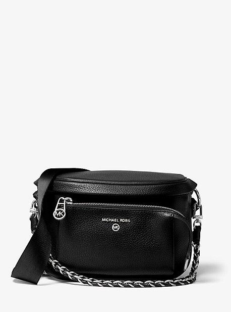 마이클 마이클 코어스 슬레이터 슬링팩 미디움 Michael Michael Kors Slater Medium Pebbled Leather Sling Pack,BLACK