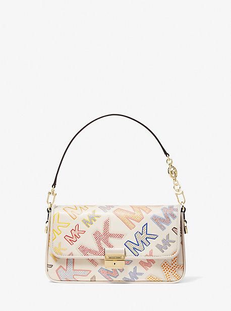 마이클 마이클 코어스 Michael Michael Kors Bradshaw Small Logo Embossed Leather Convertible Shoulder Bag