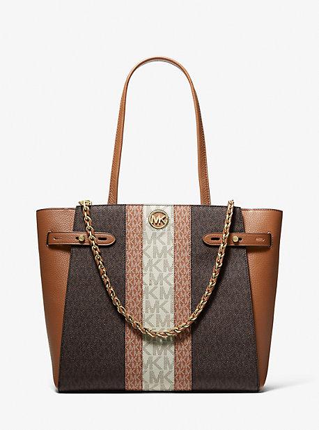 마이클 마이클 코어스 Michael Michael Kors Carmen Large Color-Block Logo Tote Bag