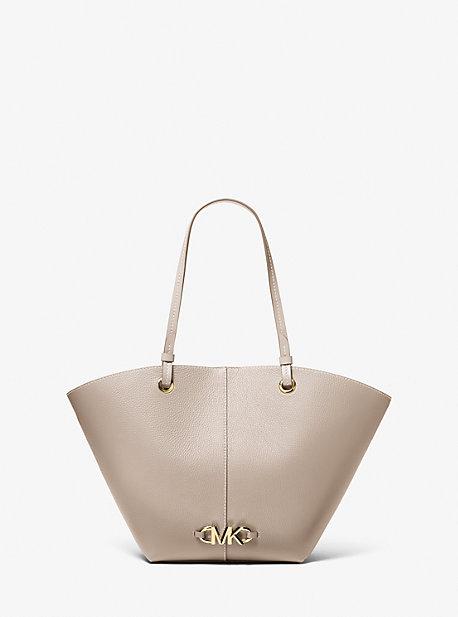 마이클 마이클 코어스 이지백 미디움 Michael Michael Kors Izzy Medium Logo Embellished Pebbled Leather Tote Bag