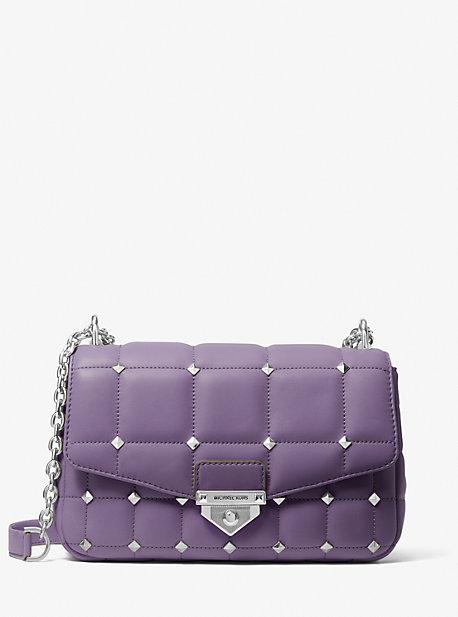 마이클 마이클 코어스 Michael Michael Kors SoHo Large Studded Quilted Leather Shoulder Bag