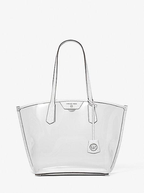 마이클 마이클 코어스 Michael Michael Kors Jane Large Clear Tote Bag,BRIGHT WHT