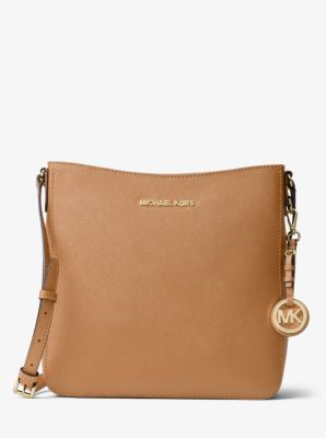 Jet Set Travel Large Saffiano Leather Messenger by Michael Kors