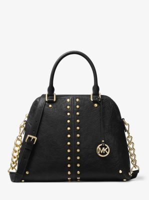 Astor Large Studded Leather Satchel by Michael Kors