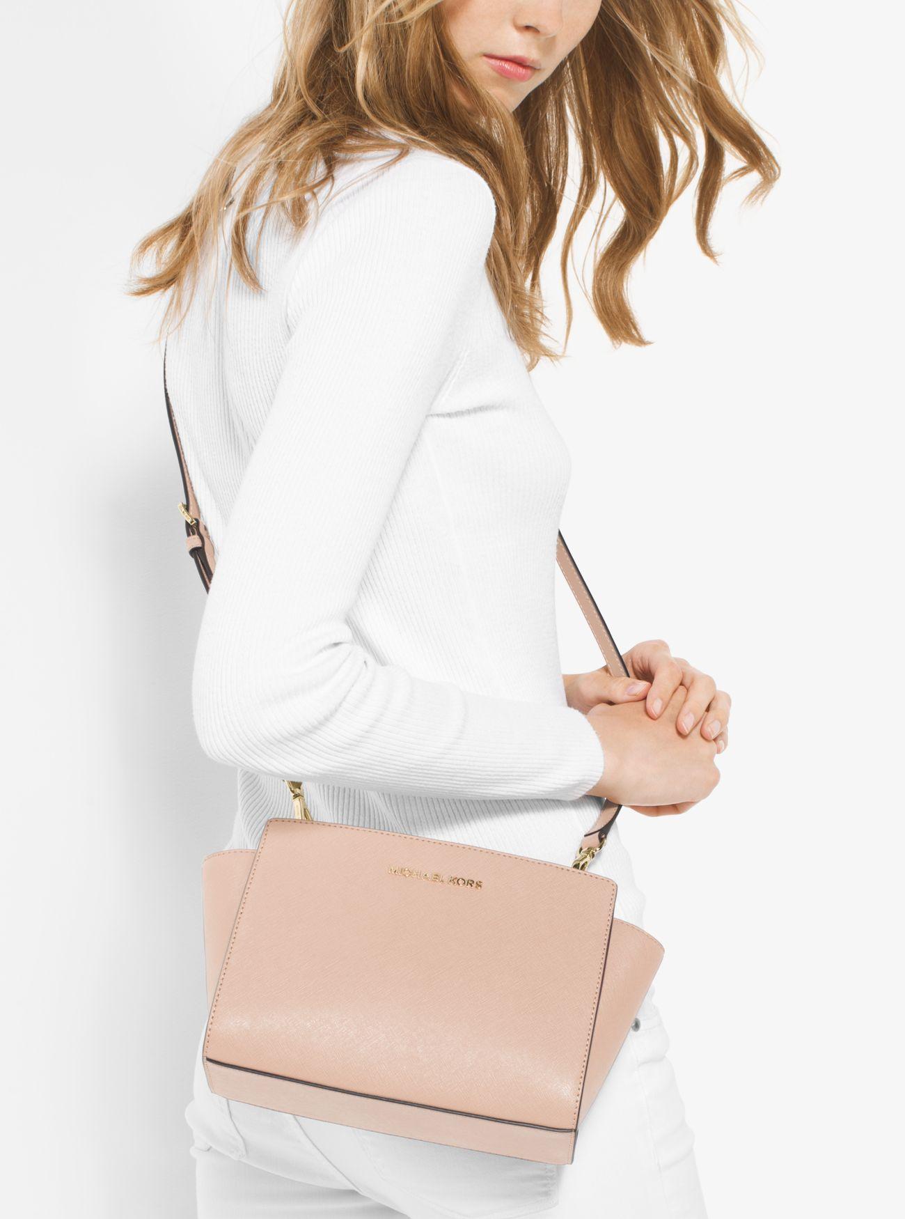 6803126ebc62 ... Clementine Leather Medium Satchel Handbag 30S3GLMS2L michael kors selma  medium ...