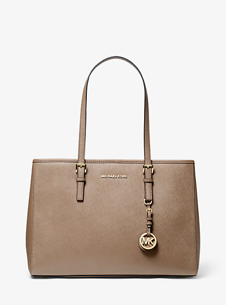 multiple colors lace up in reasonable price Jet Set Saffiano Leather Tote Bag | Michael Kors