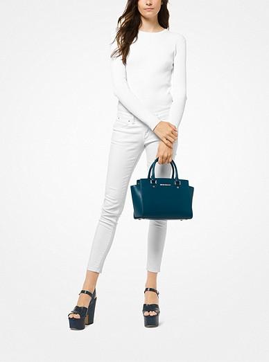 9622dca157 ... usa selma medium saffiano leather satchel. selma medium saffiano  leather satchel. michael michael kors