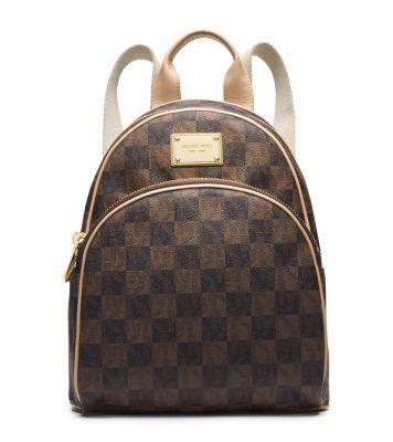 jet set travel checkerboard small backpack michael kors. Black Bedroom Furniture Sets. Home Design Ideas